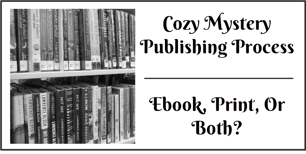Cozy Ebook vs Print