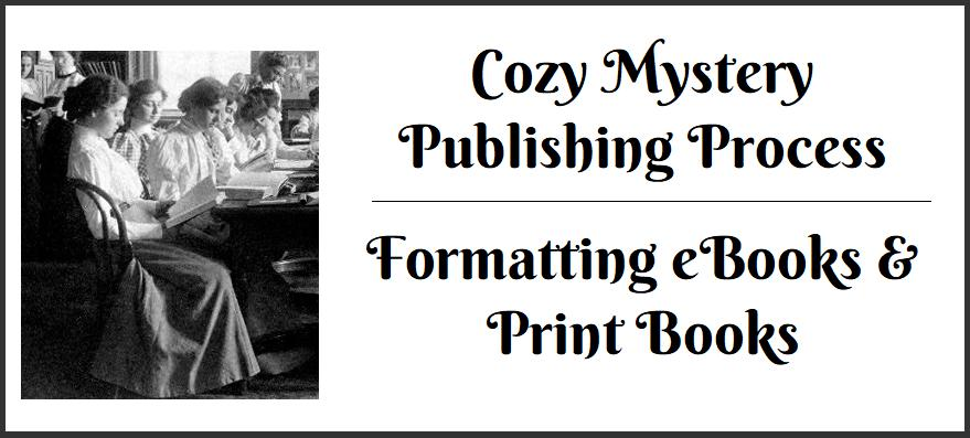 Cozy Mystery Formatting Graphic