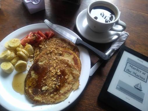 Murder at the Marina - Ebook at Breakfast in El Salvador (photo credit - Sara Barnard)