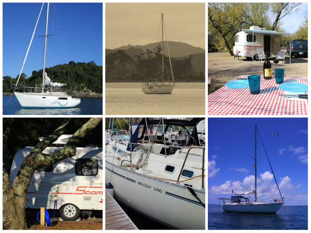 Boats & Camper Collage